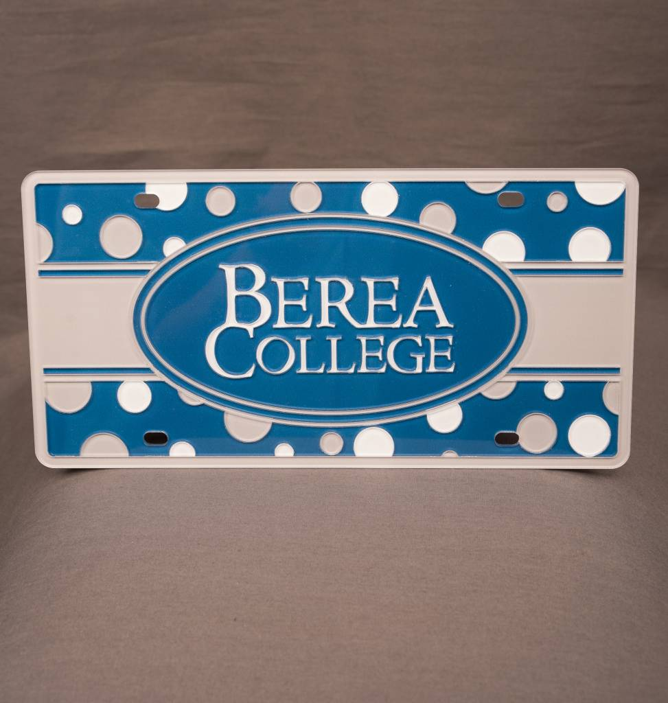 Berea College Polka Dot License Plate-3