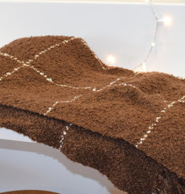 Berea College Crafts Throw, Chocolate with Natural Grid