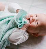 Berea College Crafts Baby Blanket Block Aqua