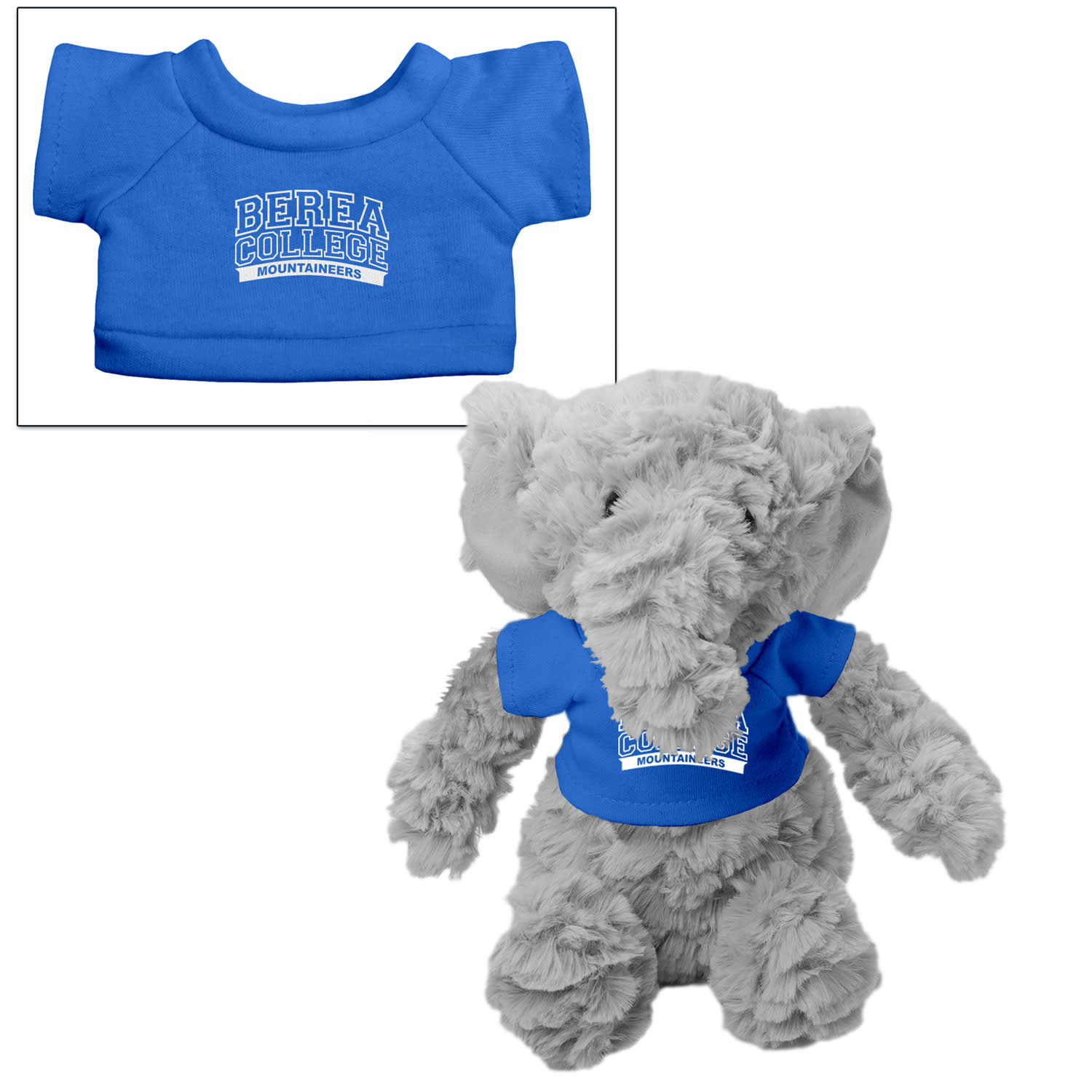 Plushie with Blue Berea College T-shirt-3