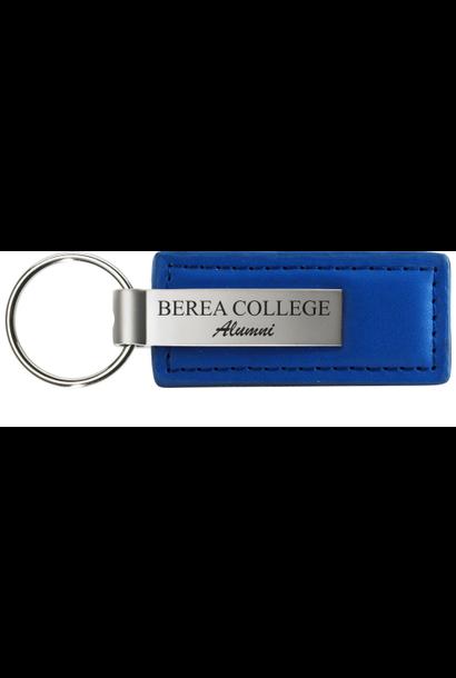 Keychain, Berea College Alumni, Leather, Blue