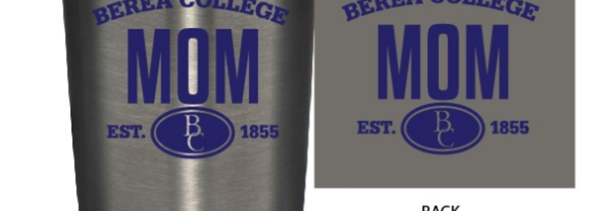 Silver Berea Mom or Dad Tumbler