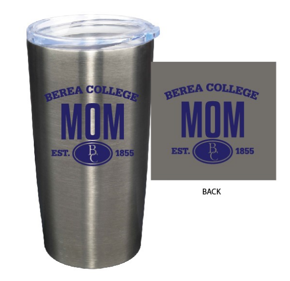 Silver Berea Mom or Dad Tumbler-1