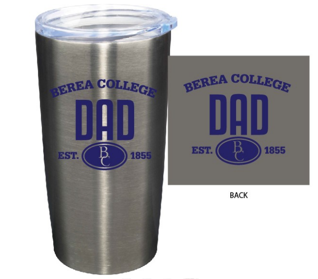 Silver Berea Mom or Dad Tumbler-2