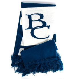 Bardown Scarf, Blue and White, Knit, Berea, BC