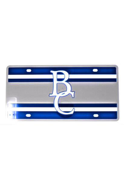 BC Striped License Plate