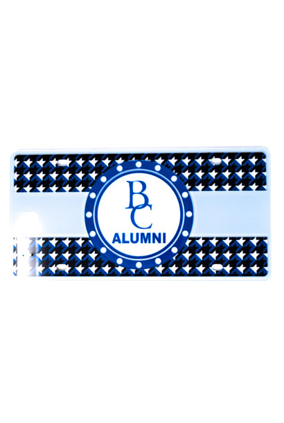 Alumni Hounds-Tooth License Plate