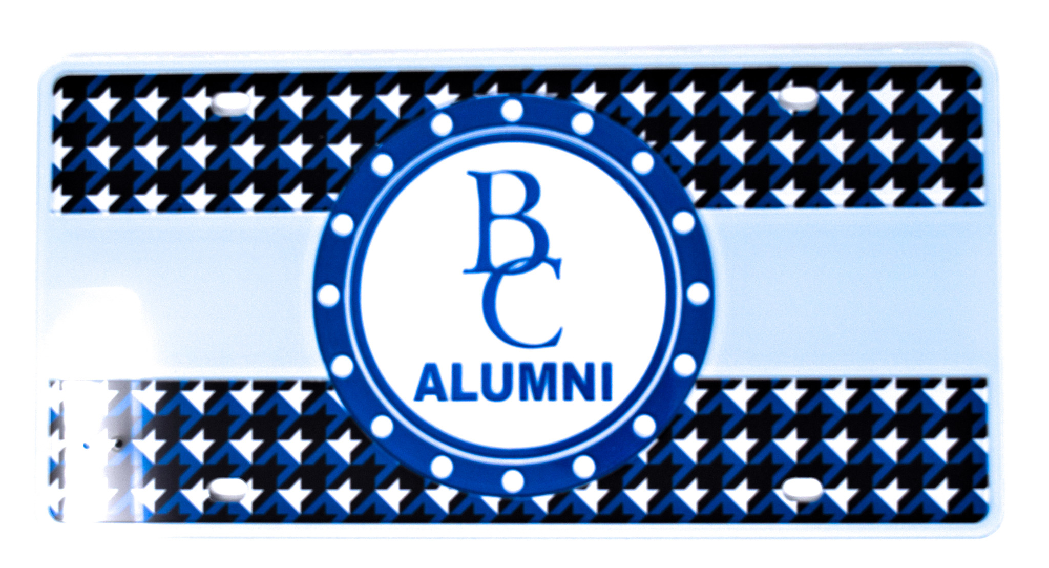 Alumni Hounds-Tooth License Plate-2