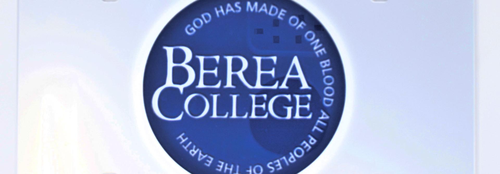 Circle Logo License Plate