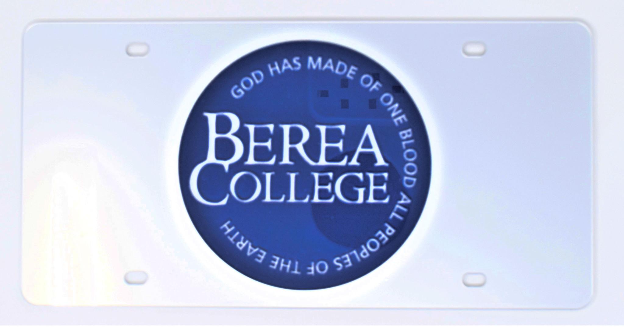 Circle Logo License Plate-1