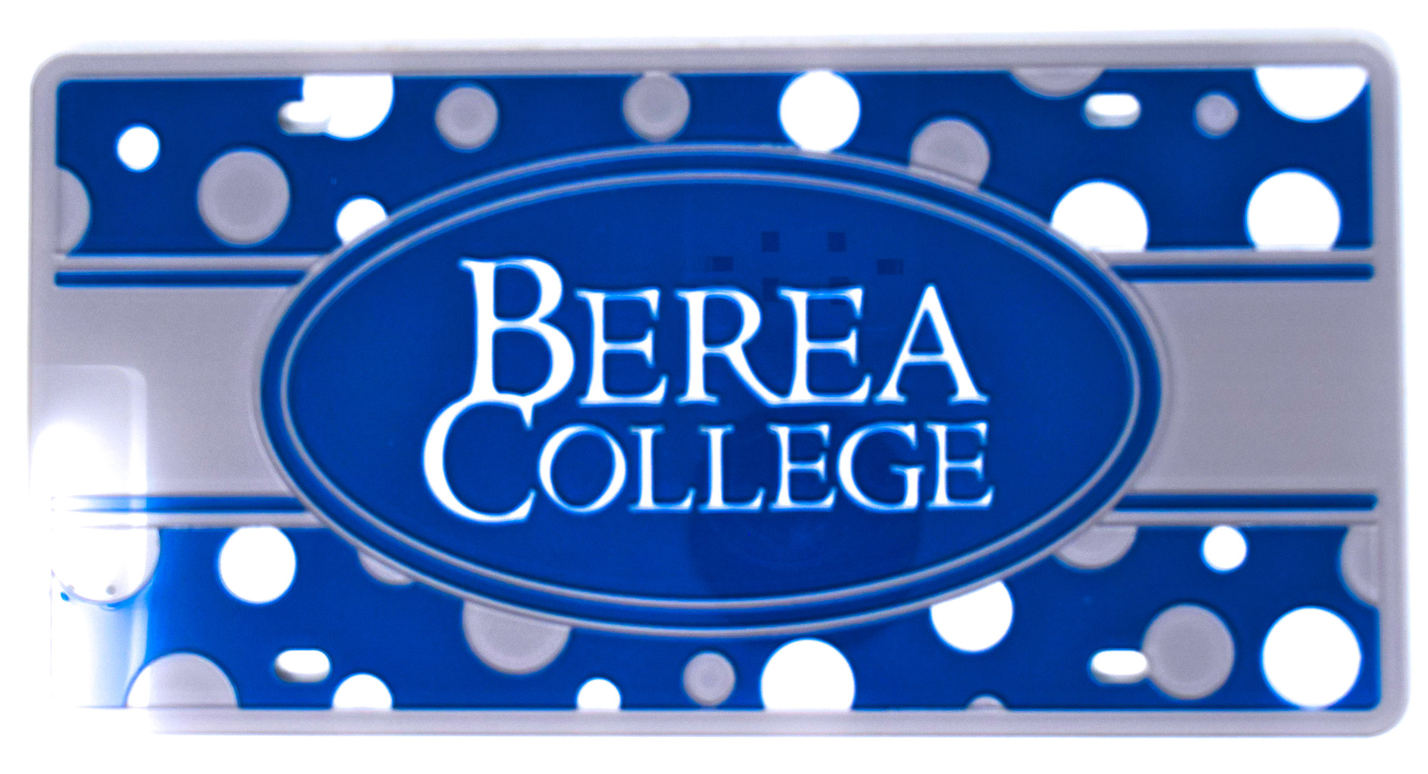 Berea College Polka Dot License Plate-1