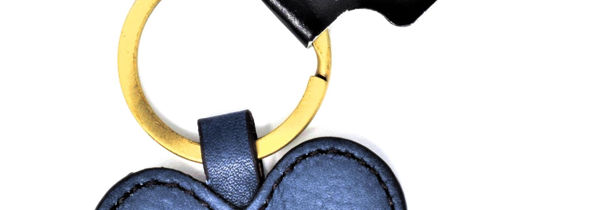 Navy Heart-shaped Keychain BC Mom