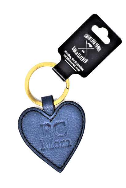 Navy Heart-shaped Keychain BC Mom