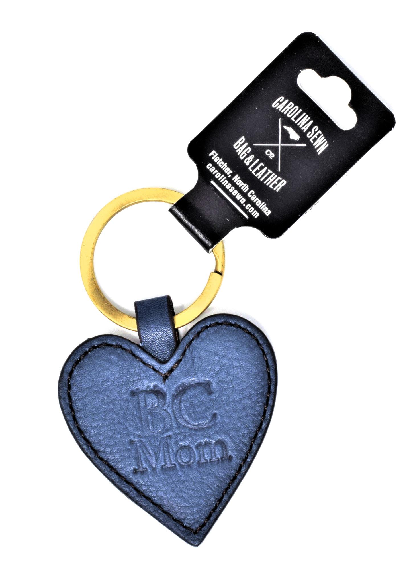 Navy Heart-shaped Keychain BC Mom-1