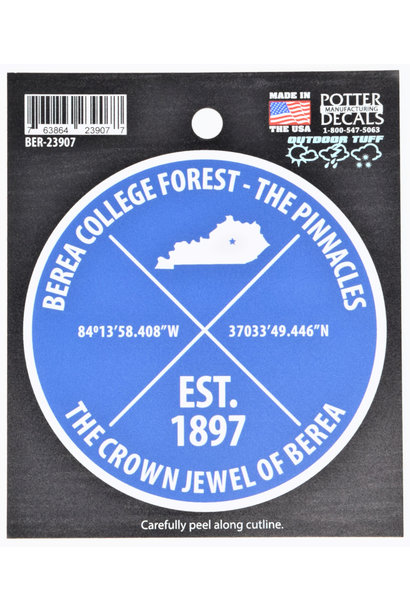 College Forest Pinnacles Decal