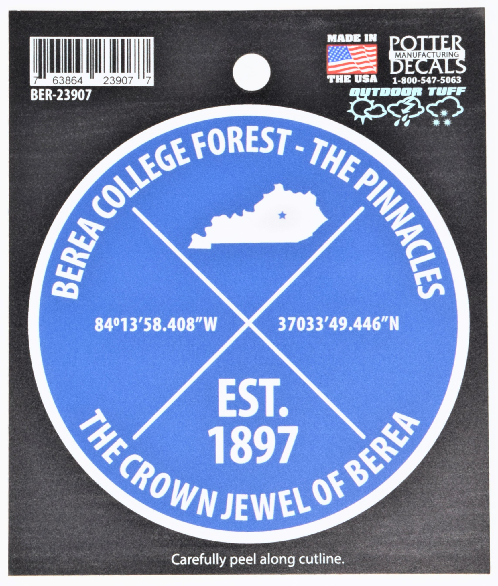 College Forest Pinnacles Decal-1