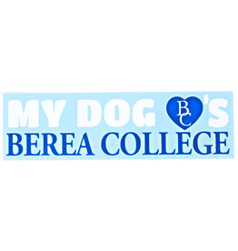 My Dog Loves Berea College Decal