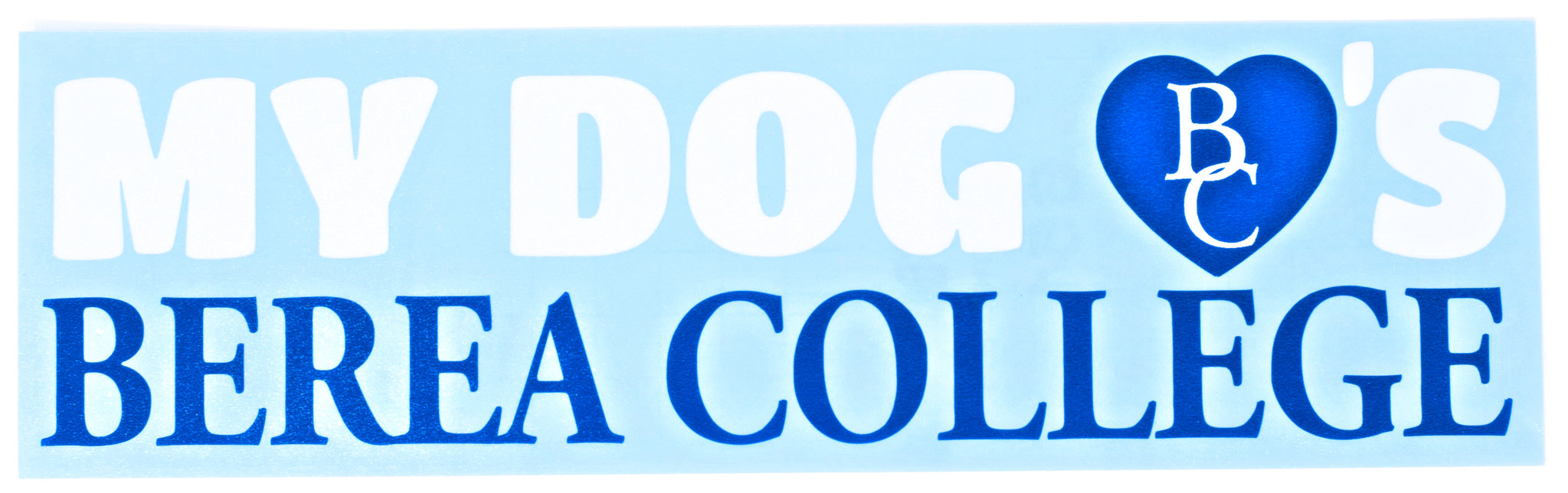 My Dog Loves Berea College Decal-1
