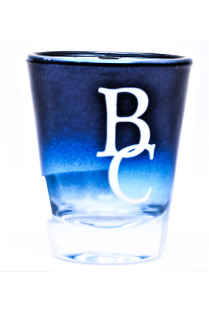 Blue Chrome BC Shot Glass