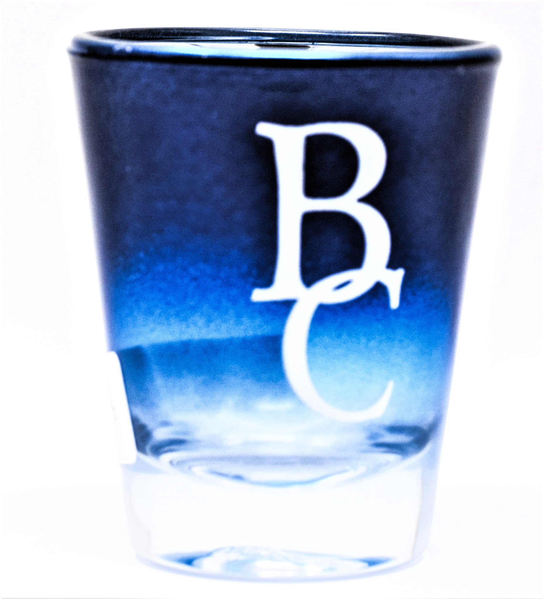 Blue Chrome BC Shot Glass-1