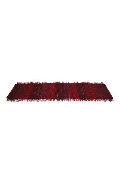 Broomcorn Table Runner Raspberry Plum