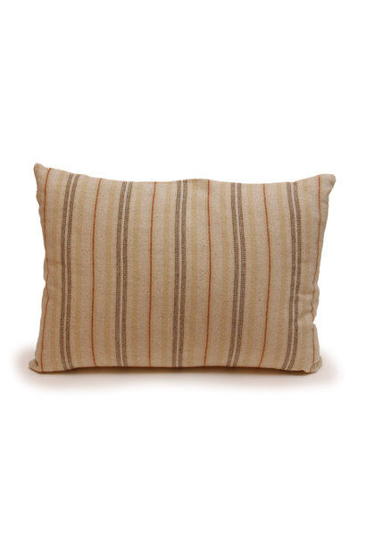 Rust Stripe Lumbar Pillow