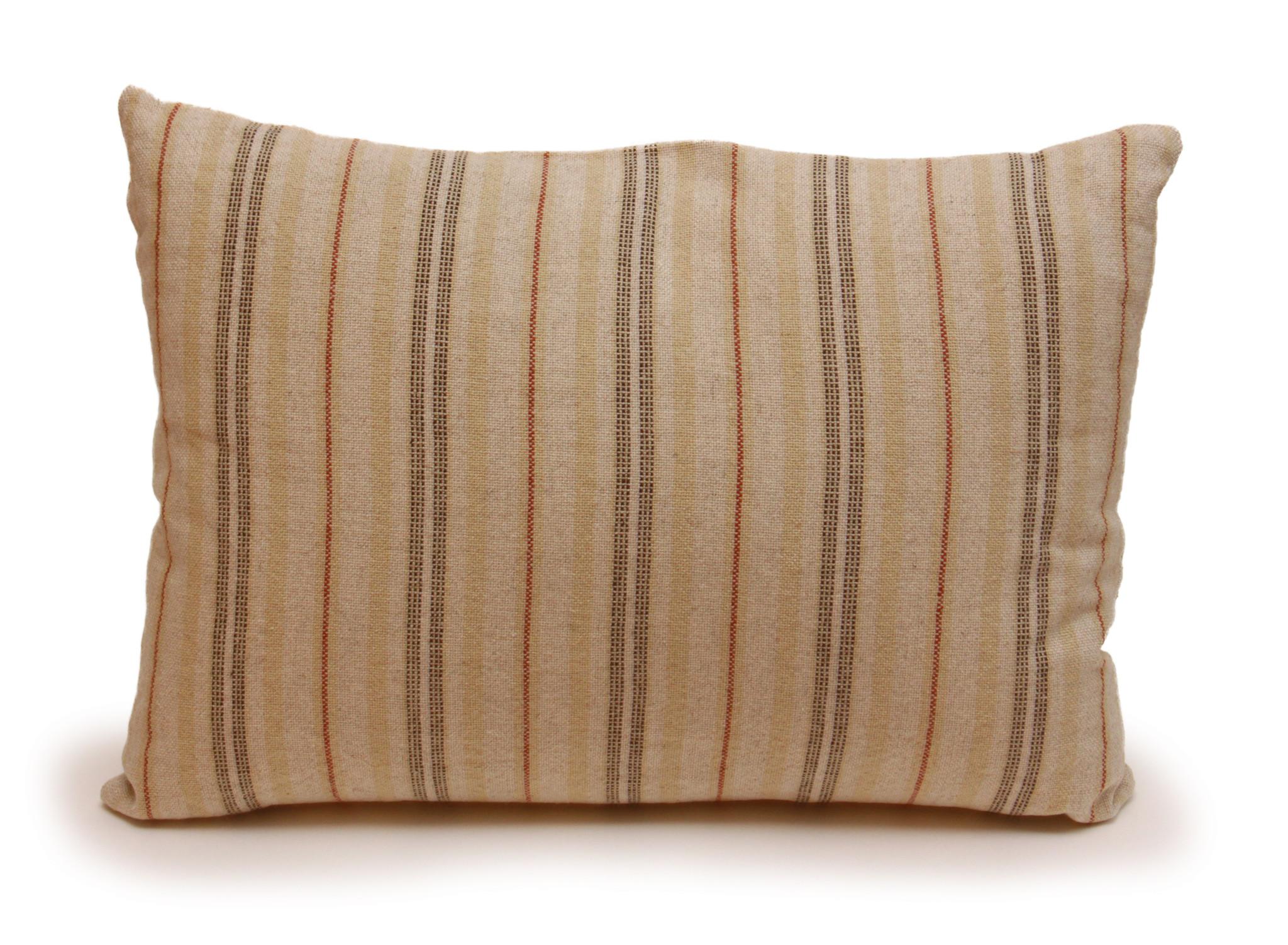 Rust Stripe Lumbar Pillow-1
