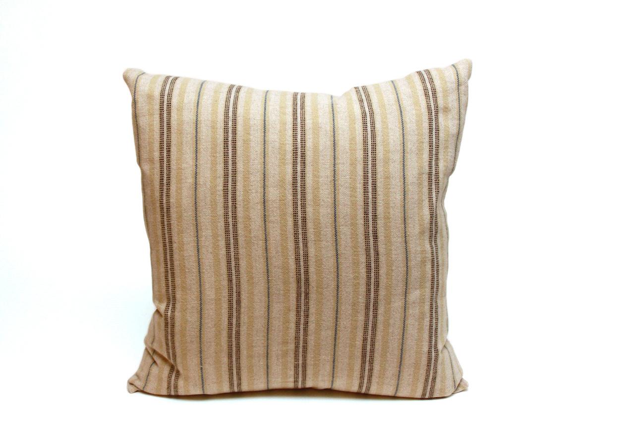 Pillow Ticking Stripe Blue/Natural-1