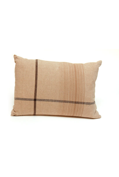 Beige Asymmetrical Stripe Pillow