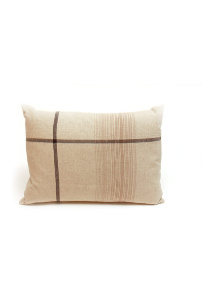 Natural Asymmetrical Stripe Pillow
