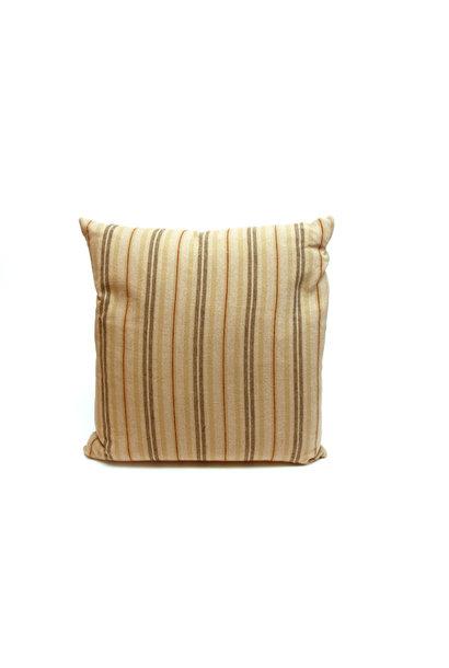 Pillow Ticking Stripe Rust/Beige