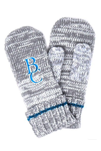 Blue & Gray Striped BC Mittens