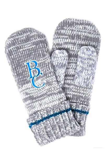 Blue & Gray Striped BC Mittens
