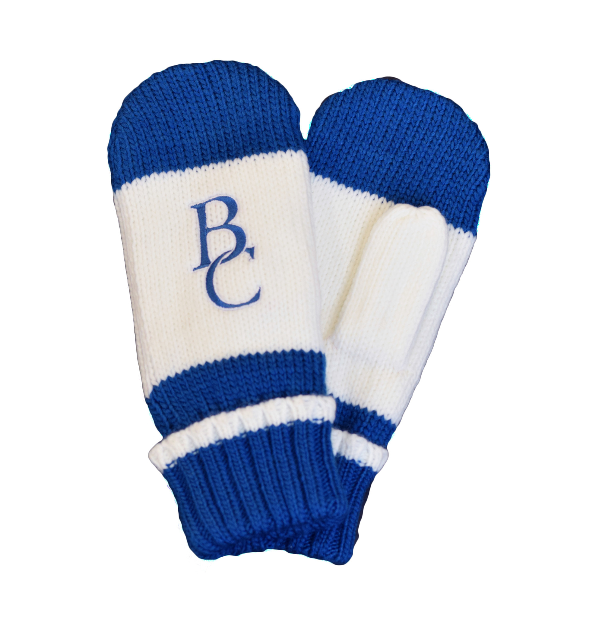 Blue and White BC Mittens-1