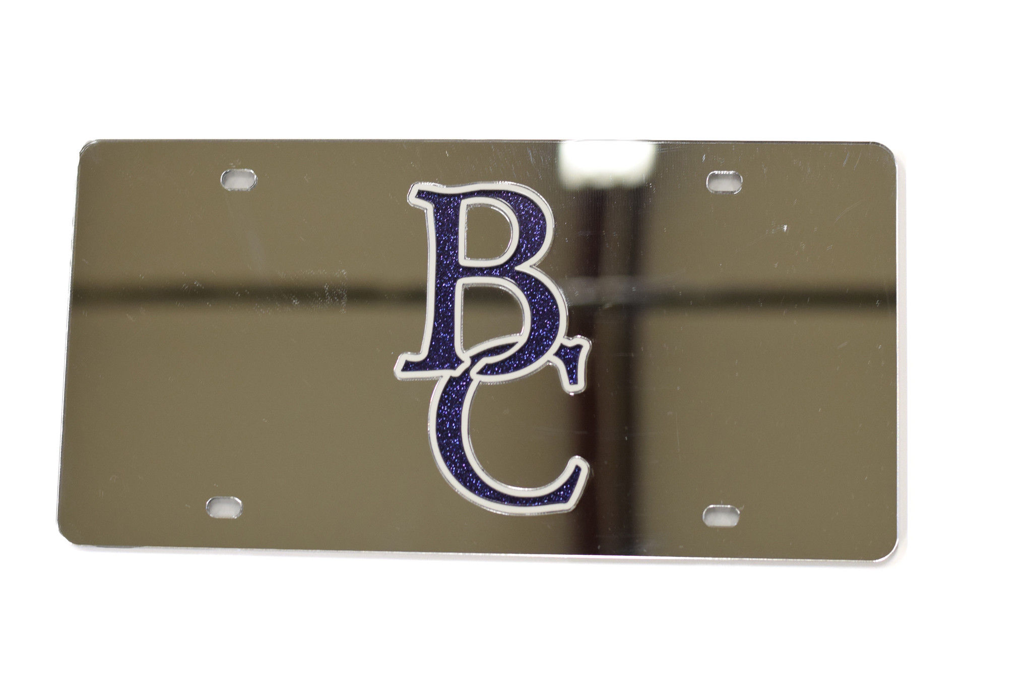 Berea College Glitter Lettering License Plate-2