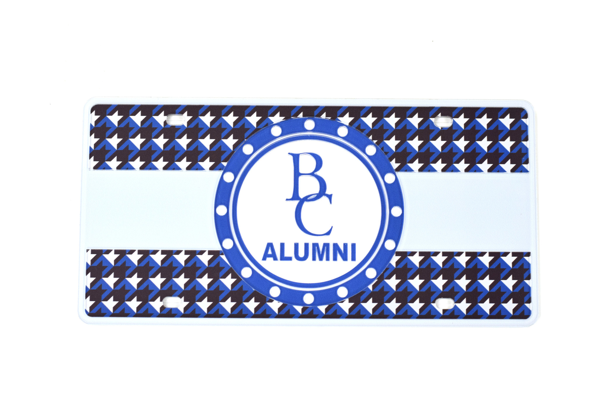Alumni Hounds-Tooth License Plate-1