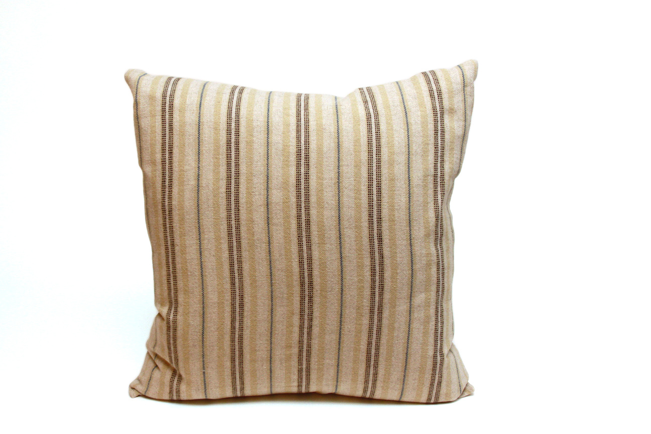 Ticking Striped Square Pillows-1