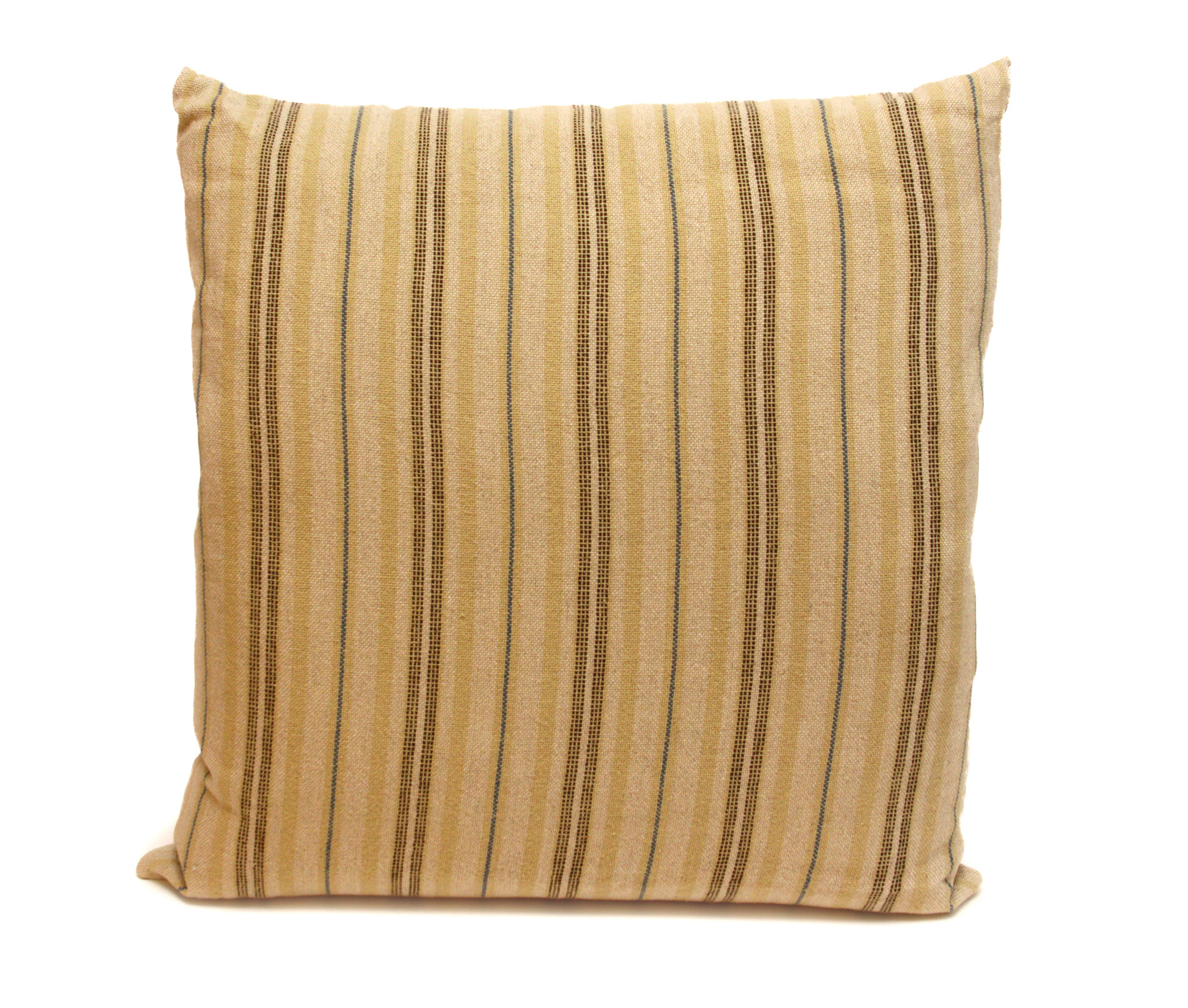 Ticking Striped Square Pillows-3