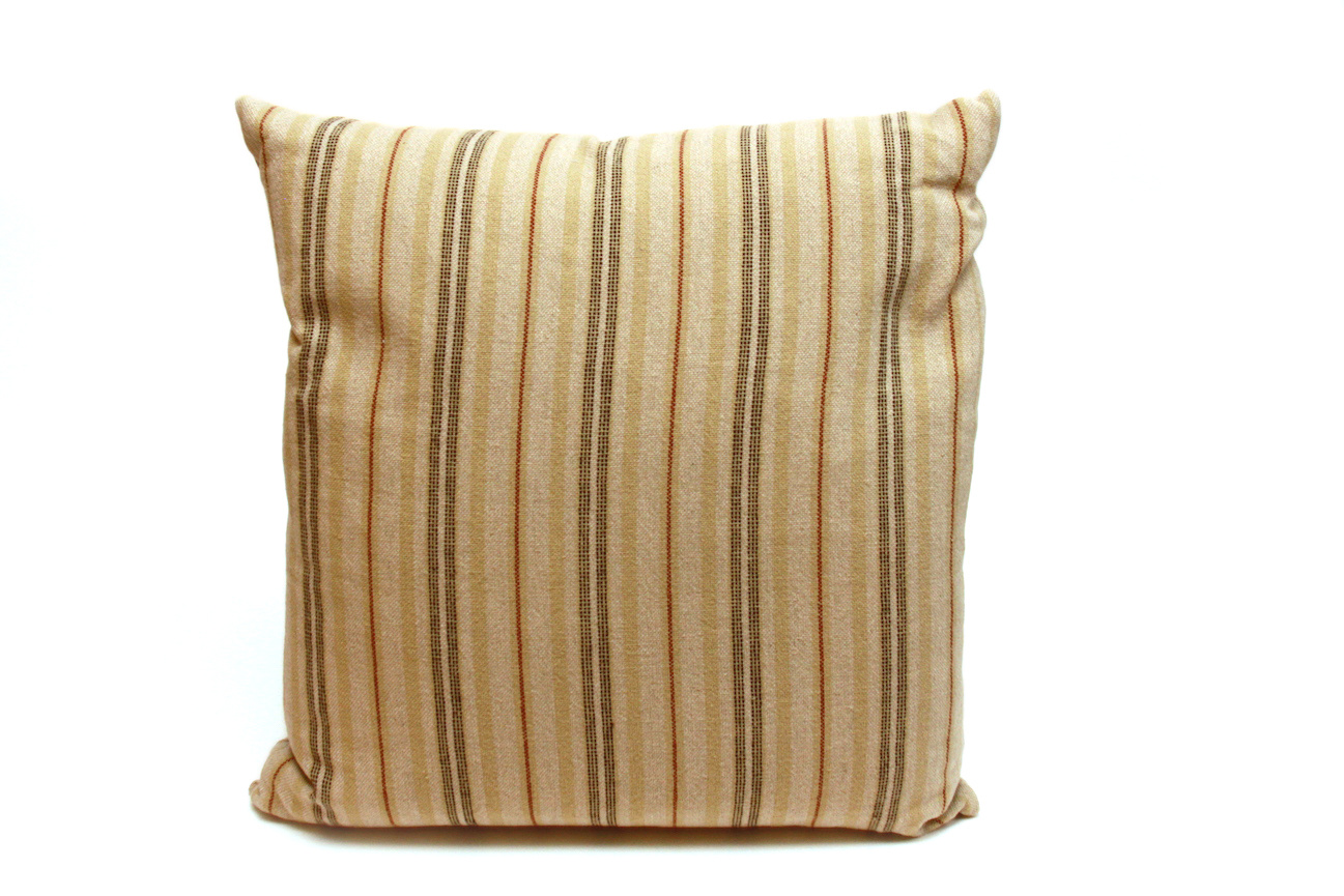 Ticking Striped Square Pillows-4