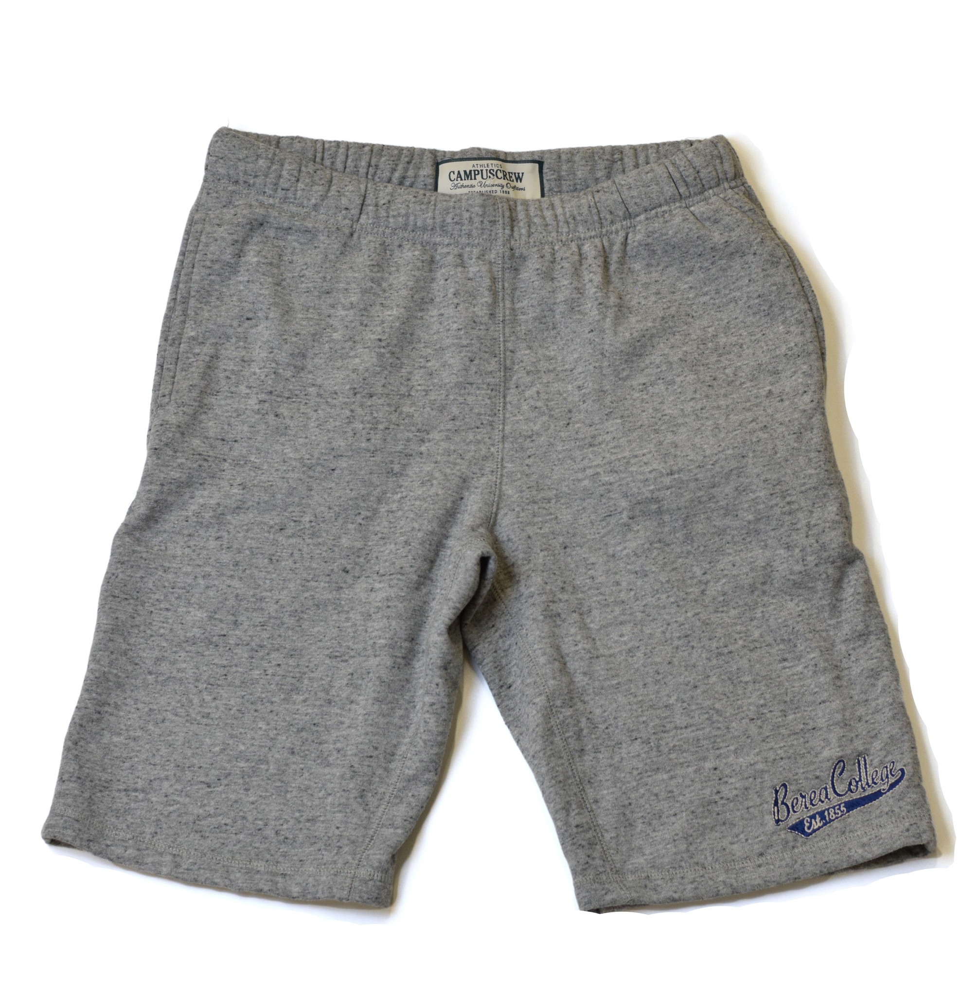 Gray Fleece Shorts-1