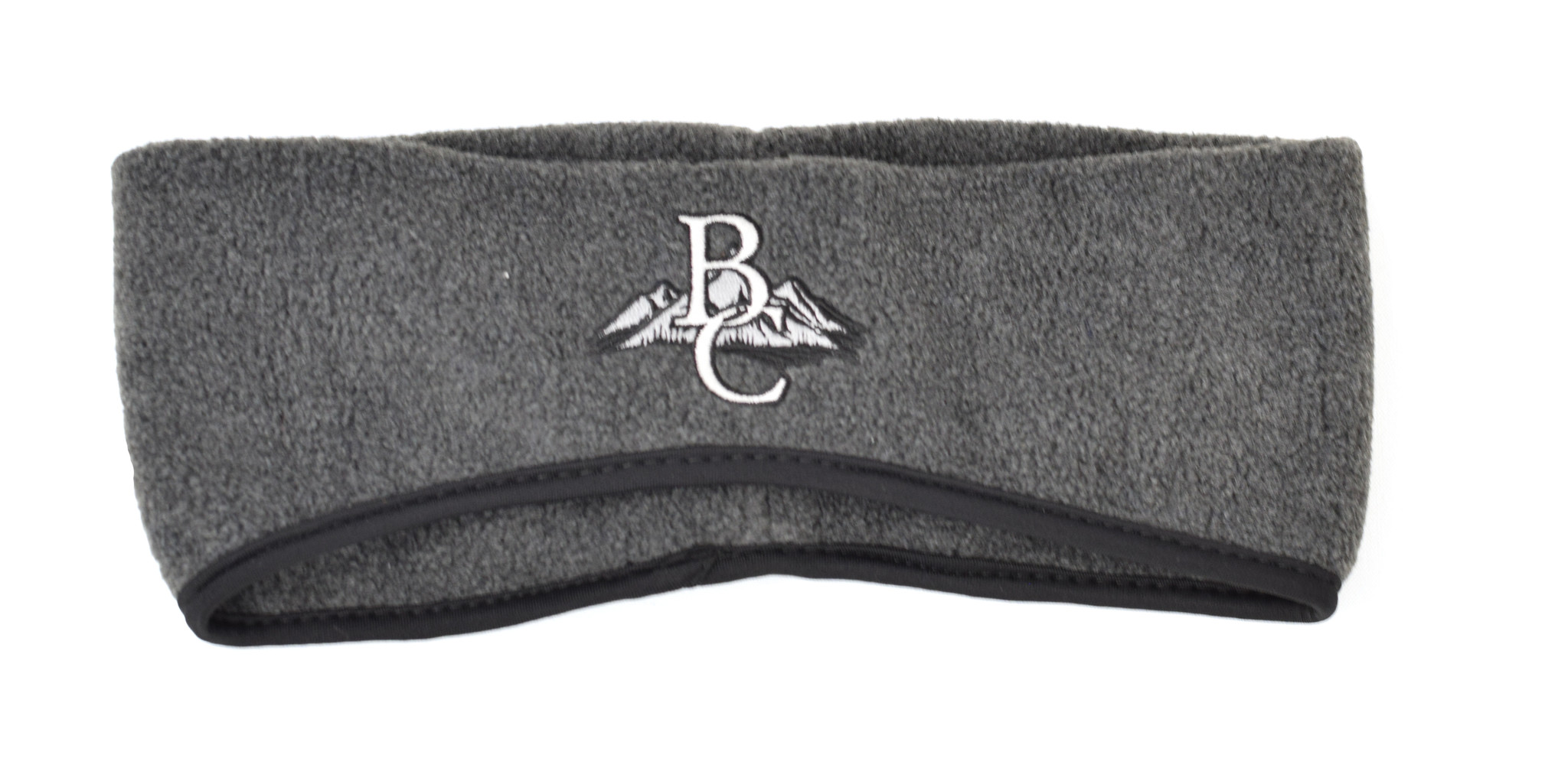Charcoal Ear Band with BC on mountains-1