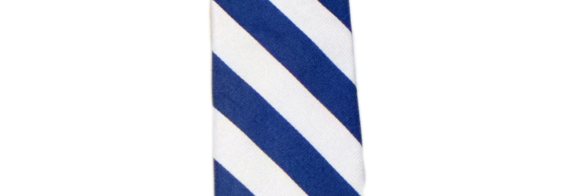 Blue and White Striped Tie