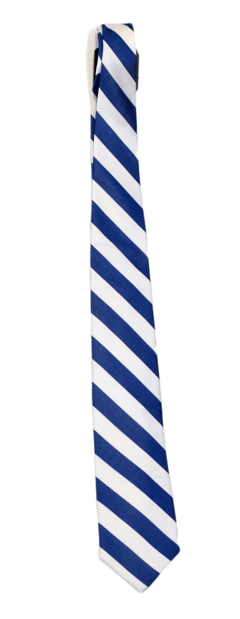 Blue and White Striped Tie-1