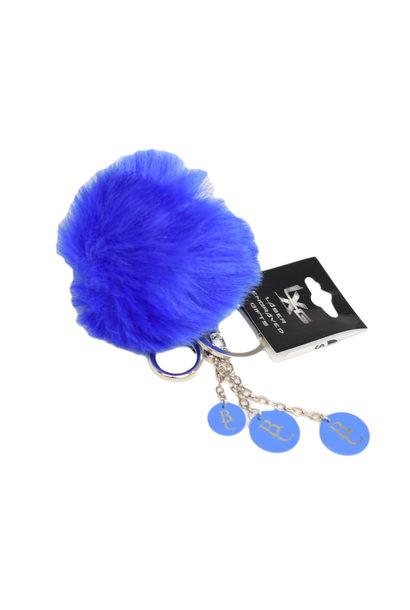 Blue BC Pom Pom Keychain