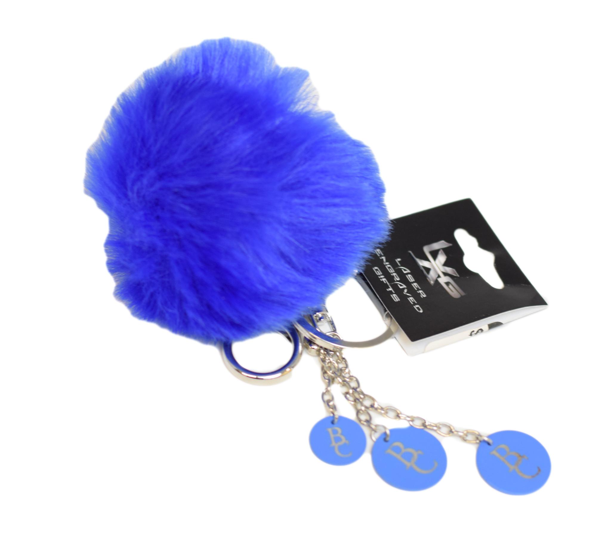 Blue BC Pom Pom Keychain-1