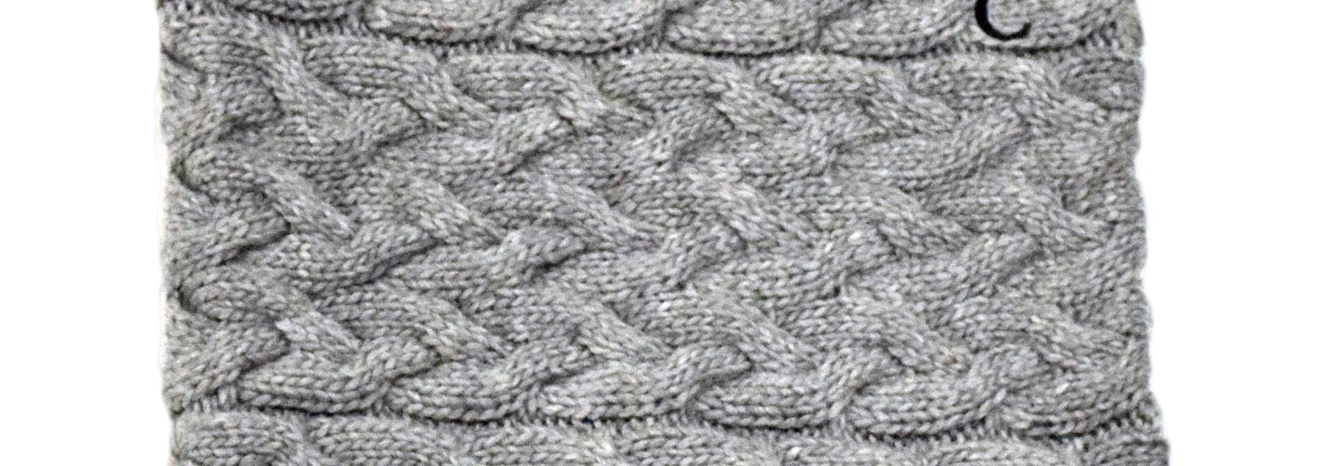 Gray Knit BC Scarf