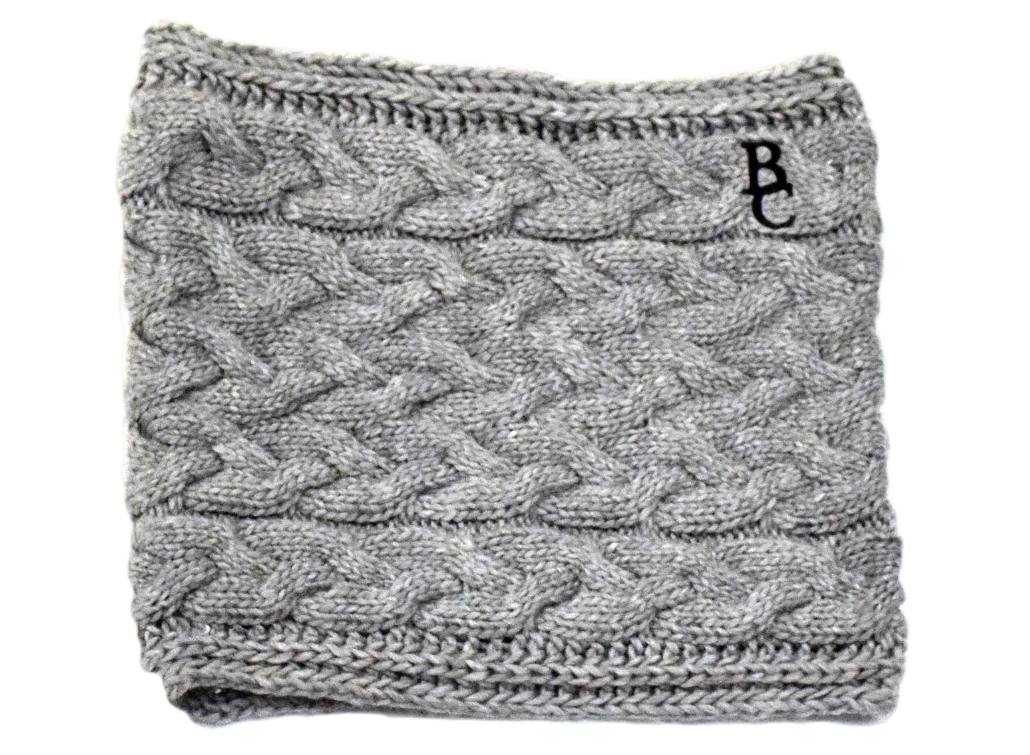Gray Knit BC Scarf-1