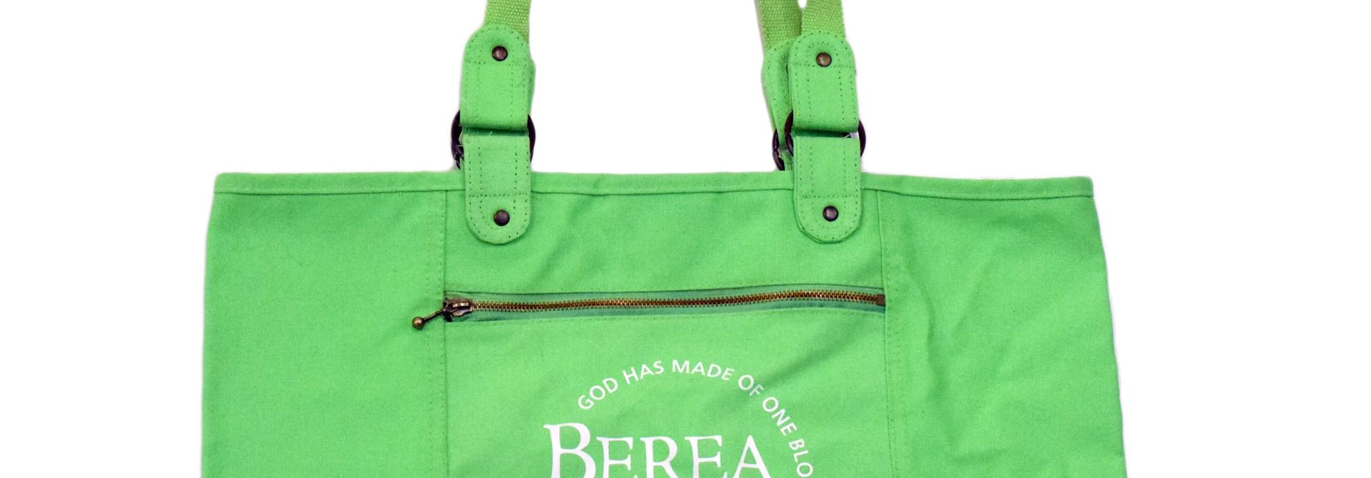 Green Berea Circle Logo Tote