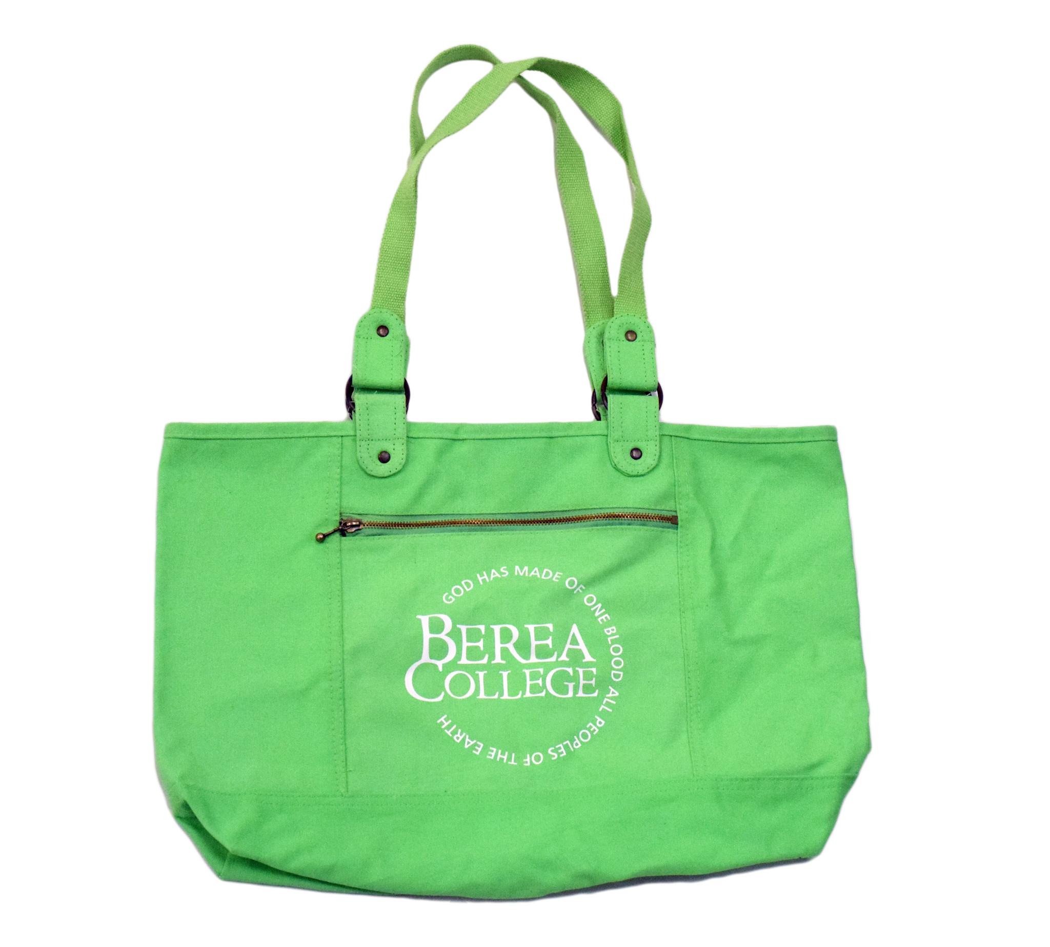 Green Berea Circle Logo Tote-1