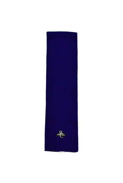 Navy Blue BC Embroidered Scarf